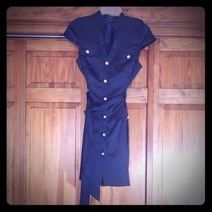 Express navy blue dress